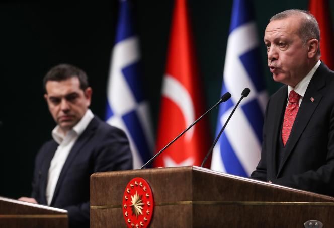 Le premier ministre grec Alexis Tsipras et le président turc Recep Tayyip Erdogan, le 5 février à Ankara.