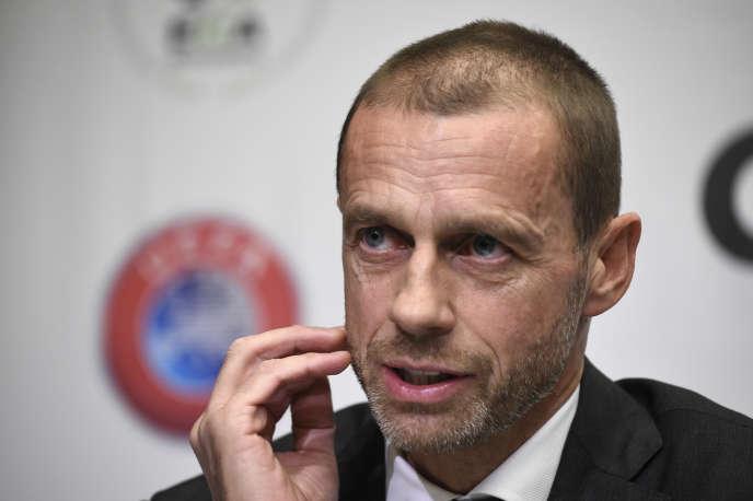 Le président de l'UEFA, Aleksander Ceferin, en novembre 2018 à Bruxelles.