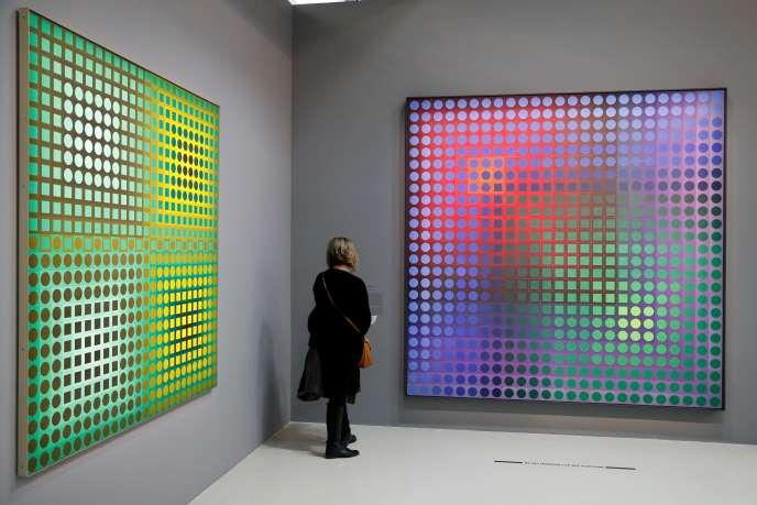 «Arny» (1967-1968), de Victor Vasarely, exposé au Centre Pompidou à Paris, jusqu'au 6 mai.