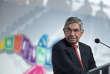 Oscar Arias, lors de la réunion sur le traité concernant le commerce des armes à Cancun, le 24août 2015.