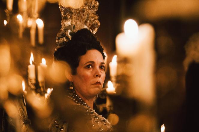 La reine Anne (Olivia Colman), une souveraine capricieuse et instable dans« La Favorite», deYorgos Lanthimos.