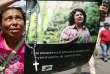 Affiche à l'effigie de la militante écologiste hondurienne Berta Caceres, à Tegucigalpa, en mars 2016.