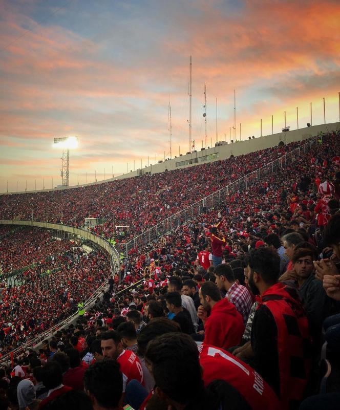 Dans un stade de Téhéran lors d'un match de football, en 2018.