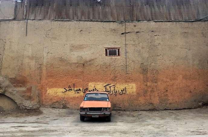 Un parking privé d'Ispahan, en juillet 2018.