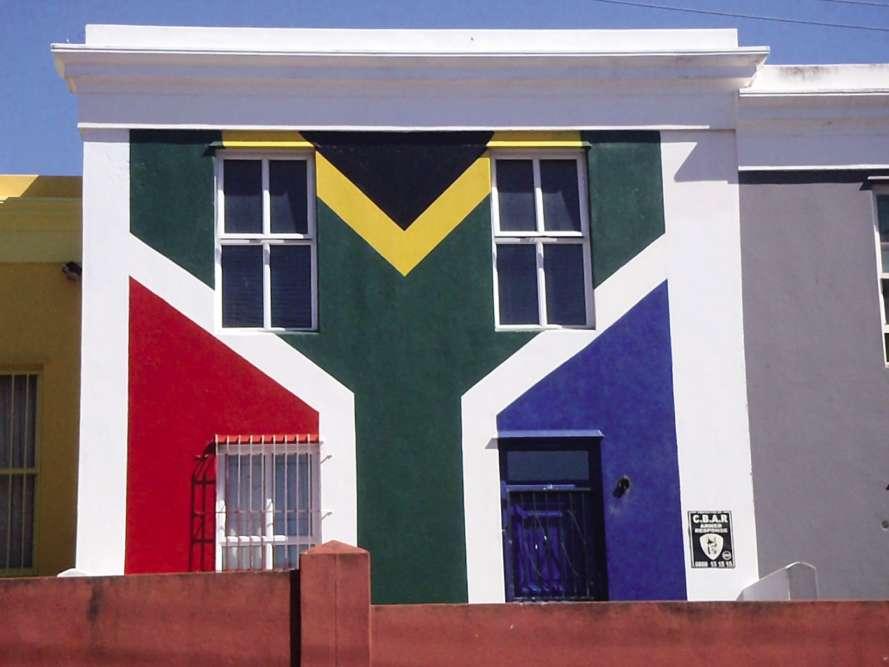« Les couleurs du drapeau sud-africain, au Cap.»