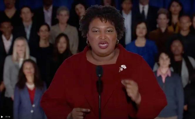 Stacey Abrams, le 5 février 2019 à Washington, lors de sa réplique à Donald Trump.