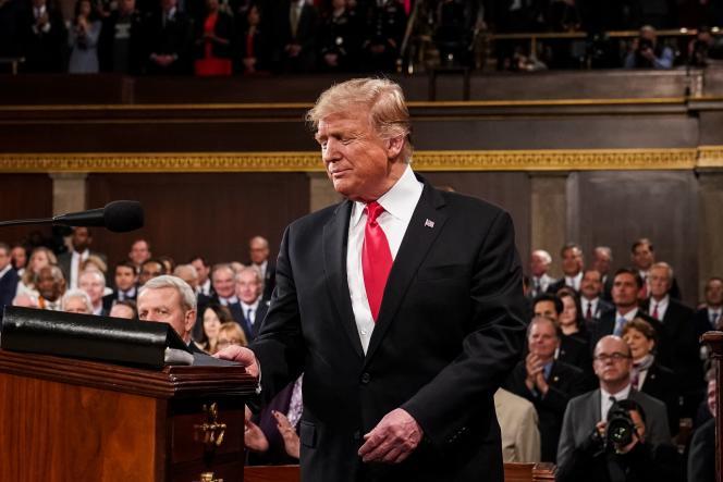 Donald Trump, le 5 février à Washington, lors de son discours sur l'état de l'Union.
