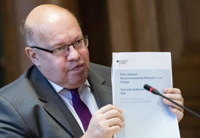 Peter Altmaier, le ministre de l'économie allemand, présente sa « stratégie industrielle nationale 2030 », à Berlin, le 5 février.