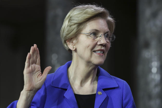 La sénatrice Elizabeth Warren, en janvier, à Washington.