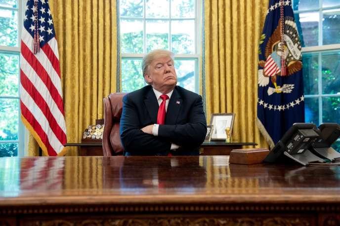 Le président américain s'est lancé dans une croisade mondiale pour tenter de rééquilibrer le déficit commercial des Etats-Unis.