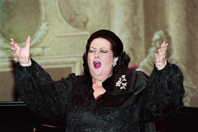 L'Espagnole Montserrat Caballe, à l'Opéra Garnier, en 1993.
