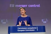 la Danoise Margrethe Vestager, commissaire européenne à la concurrence, à Bruxelles, le 6 février 2019.