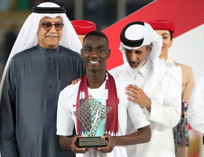 Almoez Ali, meilleur buteur de la Coupe d'Asie des nations 2019, à Abu Dhabi, le 1erfévrier 2019.