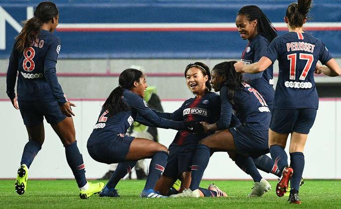 La Chinoise Shuang Wang avait ouvert le score pour le PSG face à Lyon, le 18novembre, en championnat.