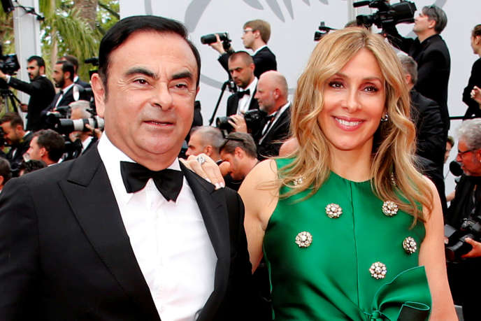 Carlos Ghosn et son épouse, Carole, lors du 70e festival de Cannes, le 26 mai 2017.
