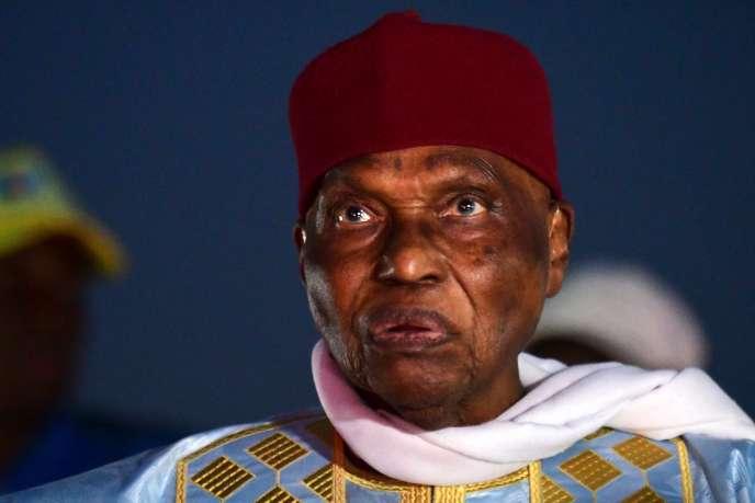 L'ancien président sénégalais Abdoulaye Wade à Pikine, Sénégal, le 7 février.