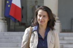 Cécile Duflot, directrice générale d'Oxfam France, en 2012, devant l'Elysée.