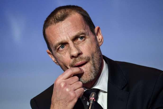 Le président de l'UEFA, Aleksander Ceferin, le 7 février à Rome.