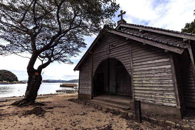 L'ancienne église de Gorin,construite en bois en 1881, sur l'île d'Hisaka. Inscrite au patrimoine mondial de l'Unesco.
