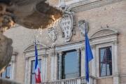 Le palais Farnèse, où se trouve l'ambassade de France en Italie, le 7 février 2019 à Rome.