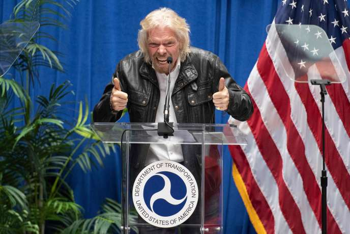 Richard Branson lors d'unecérémonie à Washington, le 7 février.