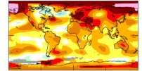 Carte mondiale des anomalies de température pour 2018.