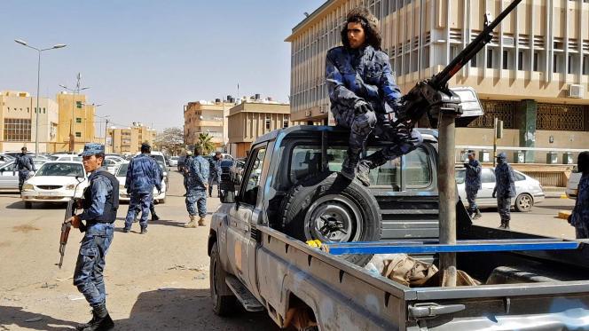 Des soldats de l'Armée nationale libyenne, du maréchal Khalifa Haftar, à Sebha, dans le sud du pays, le 6février 2019.