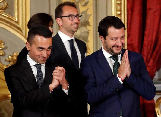 Luigi Di Maio et Matteo Salvini, le 1er juin à Rome.