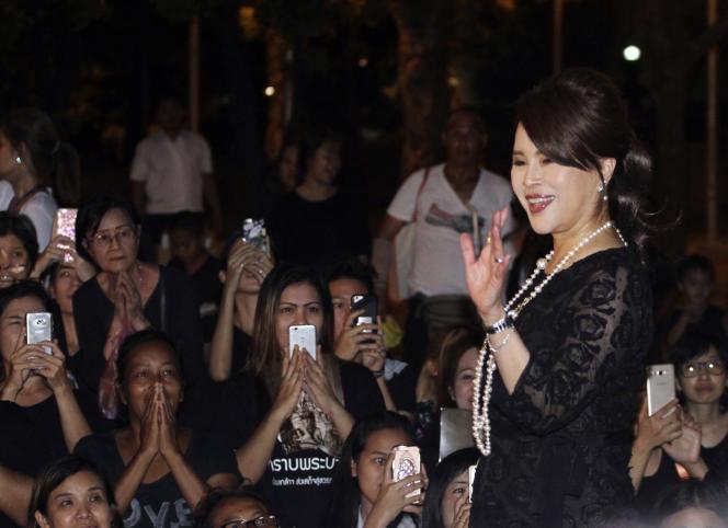 La princesse Ubolratana, à Bangkok, en octobre 2017.