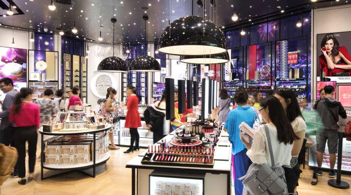 Une boutique Lancôme en Chine en 2018.