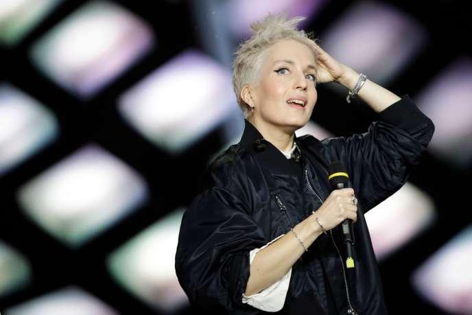 Jeanne Added aux 34e Victoires de la Musique, à la Seine musicale, à Boulogne-Billancourt, le 8 février.