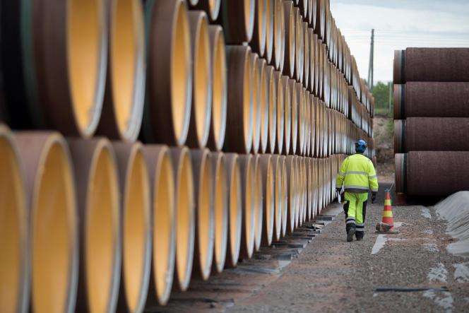 Des cylindres destinés à Nord Stream 2, à Kotka, en Finlande, le 8 juin 2017.