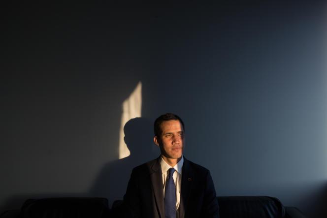 Le président autoproclamé du Venezuela, JuanGuaido, àCaracas, le 5 février.