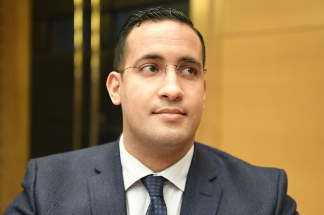 Alexandre Benalla lors de son audition au Sénat par la commission des lois, le 21janvier.