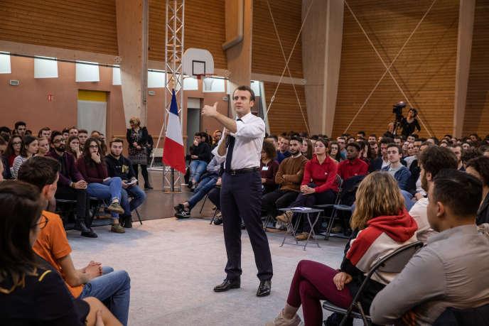 Emmanuel Macron, à Etang-sur-Arroux (Saône-et-Loire), le 7 février 2019.