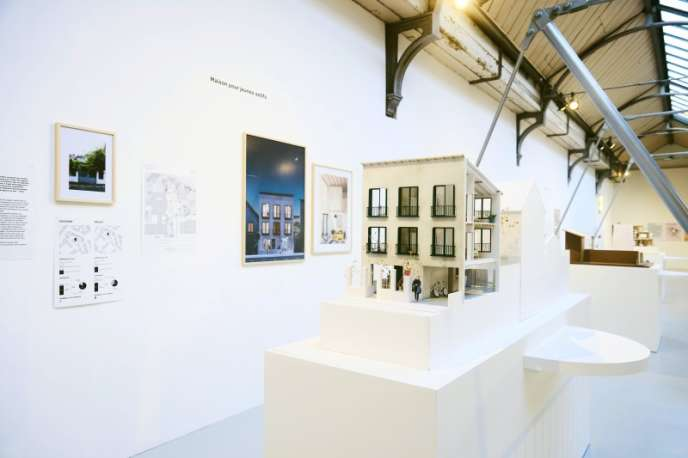 Vue de l'exposition« Transformations pavillonnaires» au Pavillon de l'Arsenal à Paris, jusqu'au 10 février 2019.