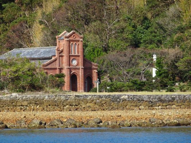 L'église Dozaki construite en 1880 et reconstruite en 1907 dans une archirecture néogothique de style européen.