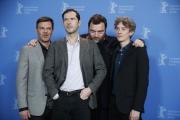 François Ozon et les acteurs de «Grâce à Dieu», Melvil Poupaud, Denis Menochet et Swann Arlaud lors de la Berlinale, le 8 février.