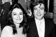 Albert Finney et Anouk Aimée, le jour de leur mariage, le 8 août 1970.