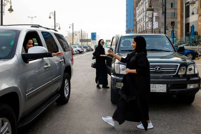 A Dammam (Arabie saoudite), le 8 février. Depuis 2018, les Saoudiennes ont le droit deconduire.