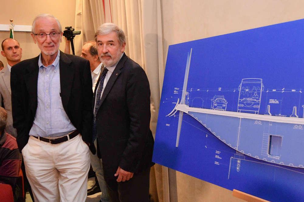 L'architecte italien Renzo Piano a été désigné pour reconstruire le viaduc. Les plans ont été présenté enseptembre2018, et l'objectif est de l'ouvrir à la circulation enavril2020.