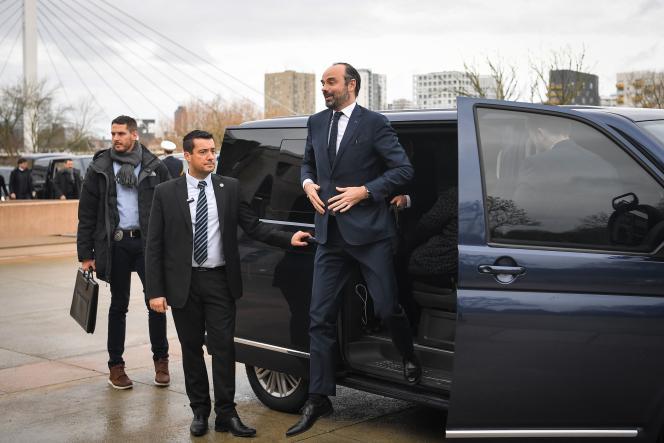 Le premier ministre, Edouard Philippe, à Nantes, le 8 février.