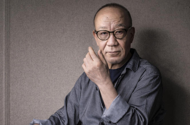 Joe Hisaishi, compositeur japonais, à la Philharmonie de Paris, le 8 février 2019.