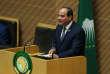 Le président égyptien, Abdel Fattah Al-Sissi, s'adresse aux membres de l'Union africaine, à Adis-Abeba, le 10 février 2019.