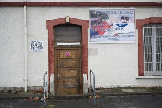 Sur le site de la caserneCorbineau, en attente deréhabilitation, à Châlons-en-Champagne, le 10 février.