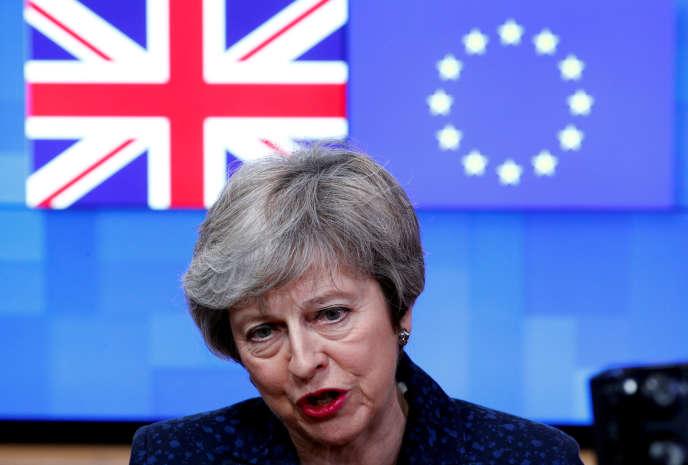 Theresa May à Bruxelles le 7 février 2019.