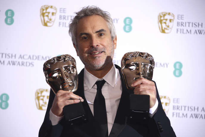 Le réalisateur Alfonso Cuaron lors de la cérémonie des Bafta à Londres, le 10 février 2019.