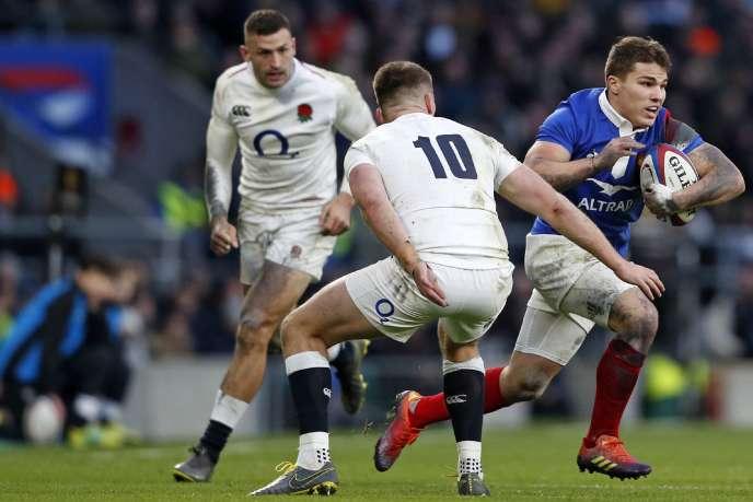 Antoine Dupont contre l'Angleterre, le 10 février 2019