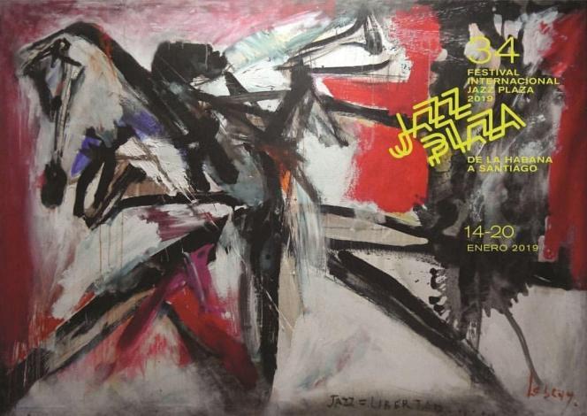 Affiche de la 34e édition du festival Jazz Plaza de La Havane, Cuba.