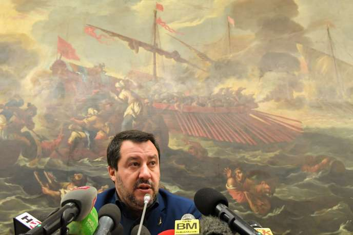 Le ministre de l'intérieur italien, Matteo Salvini, à Rome, le 11 février.